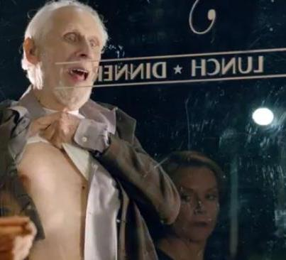 I don't even know what this commercial was for.  I just rememeber an old man nipple on a glass.