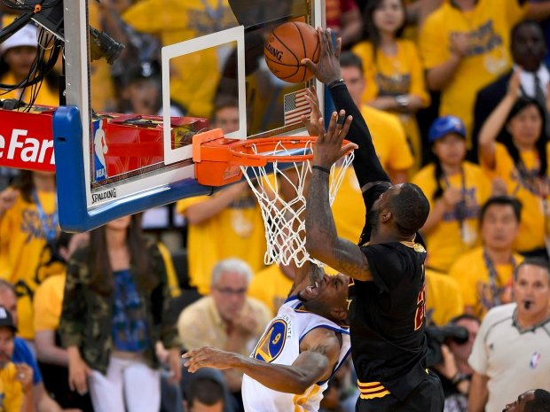 lebron james block